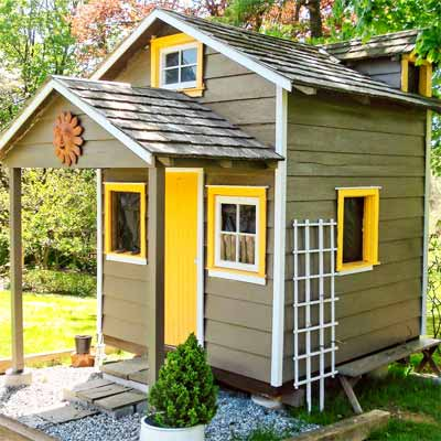 Relaxshackscom A ShedPlayhouse converted into a TINY HOUSE