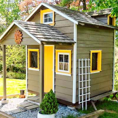 A shed playhouse converted into a tiny for Very small cottages