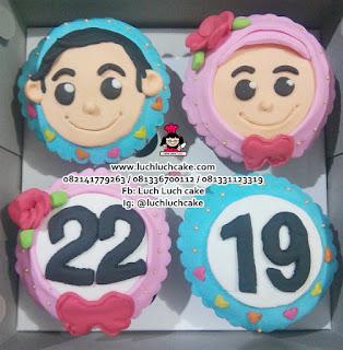 Cupcake Cowok dan Cewek Daerah Surabaya - Sidoarjo
