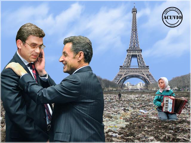 Teodor Baconschi Nicolas Sarkozy funny photo