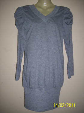 Grey Long Shirt With Puff- FR 43