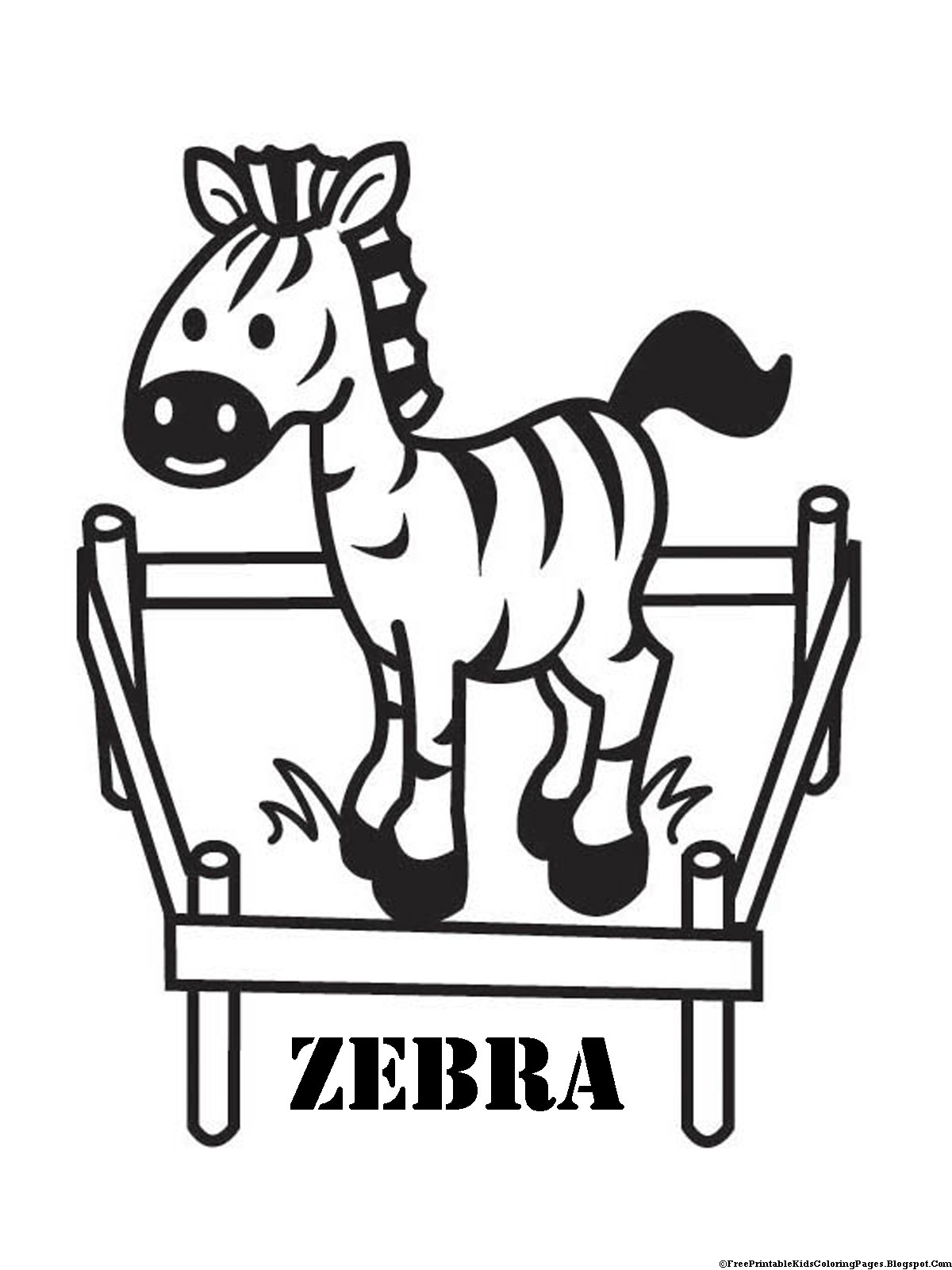 Baby Zebra Outline Zebra coloring pages