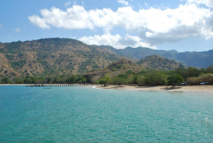 Playa de la isla de Komodo