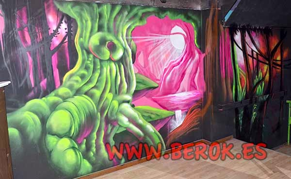 graffiti arbol surrealista