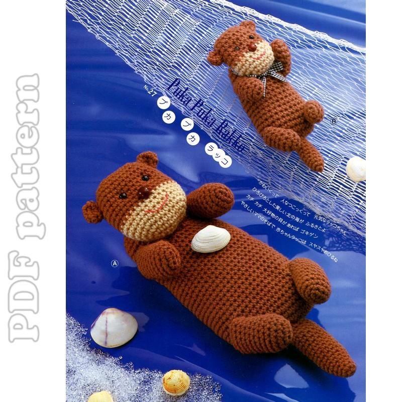 Amigurumi Crochet Size : Amigurumi Huge and Medium Size Sea Otter Plush Crochet ...
