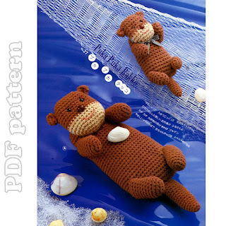 Amigurumi Pattern Sea Otter and Bathtub Crochet by yoguiana