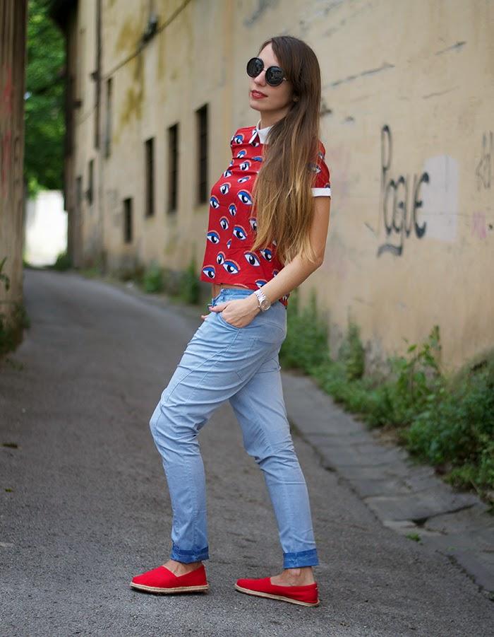 pantaloni celesti