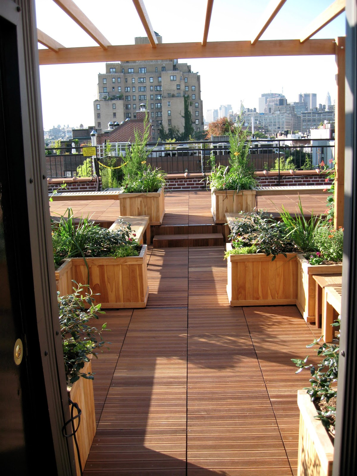 All decked out nyc deck construction for Deck trellis