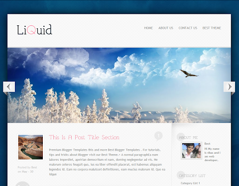 Liquid Blogger Theme