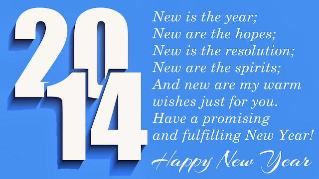 Happy New Year Wishes 2014 Calendar Wallpaper With Greetings And Messages