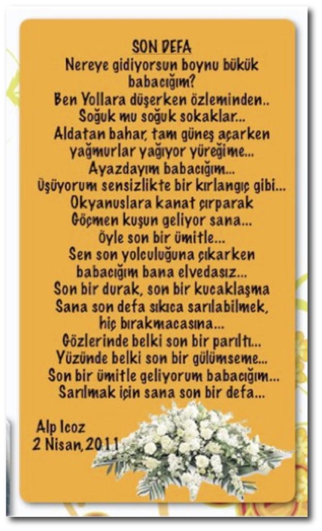 şiir Babayim Alp Icoz Faruk Içöz 1930 2006