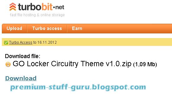 Get Turbobit.net 100% Working Premium Account Valid Till 16 Nov 2012