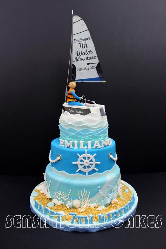 The Sensational Cakes Special 3 Tier Sailing Theme 3d