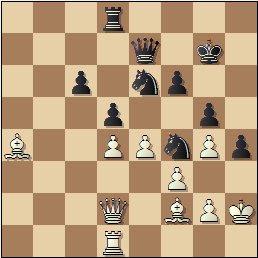 Partida de ajedrez Ernesto Palacios vs. Ricardo Calvo, posición después de 35…bxc6