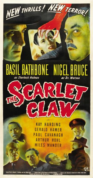 Sherlock Holmes in The Scarlet Claw Starring Basil Rathbone and Nigel Bruce,