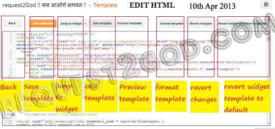 Latest blogger template HTML editor, template html edit changes, April '2013