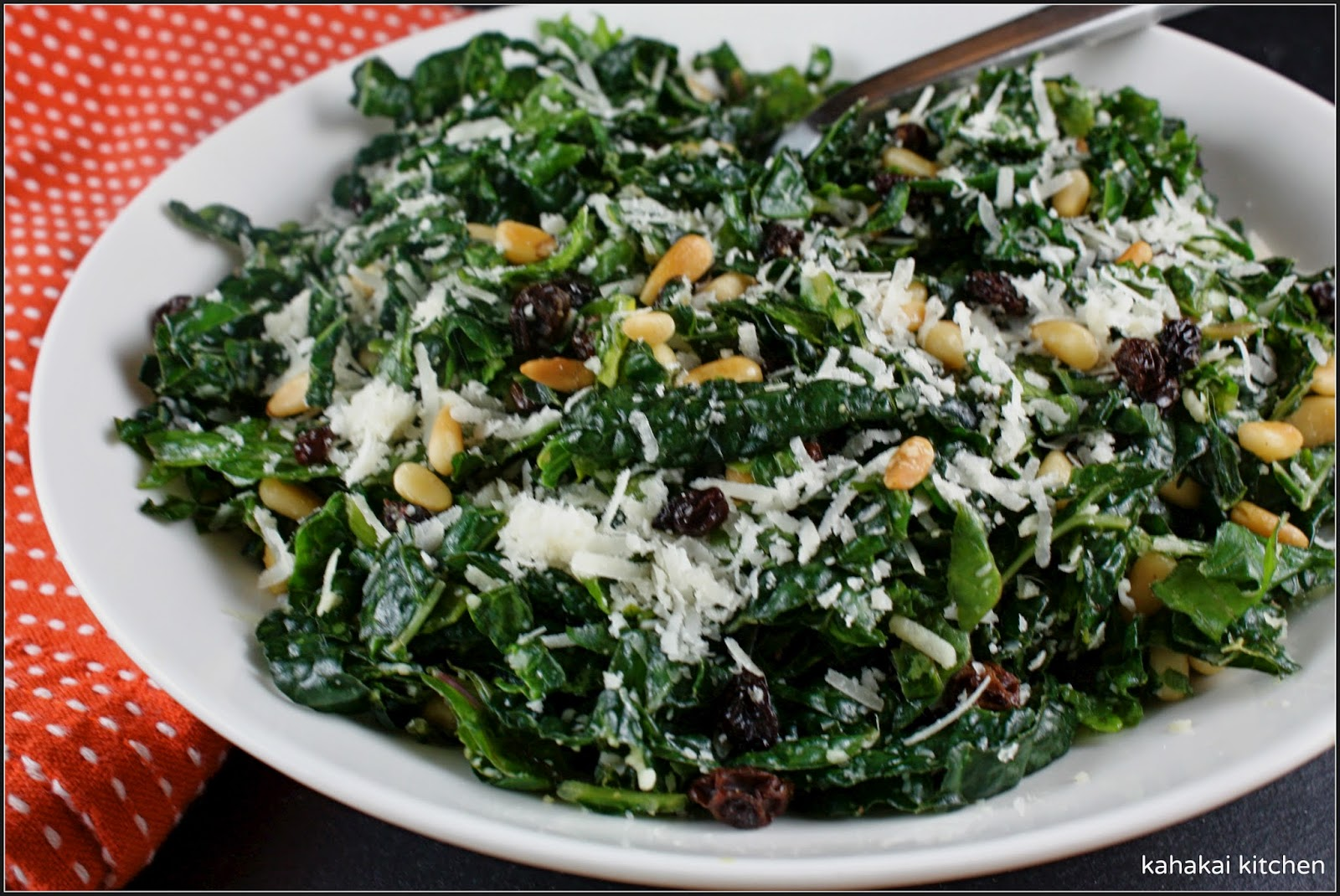 Shredded Kale Salad With Pine Nuts, Currants, And Parmesan Recipes ...