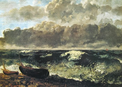 Gustave Courbet - La mer orageuse,1870.