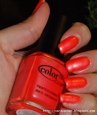 naglar, nails, nagellack, nail polish, colorclub, neons, orange