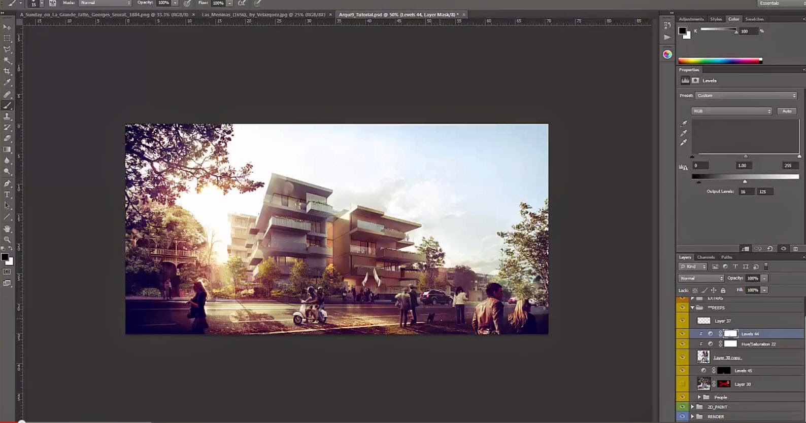 Architectural post production tutorial inserting peoples in architectural post production tutorial inserting peoples in photoshop baditri Images