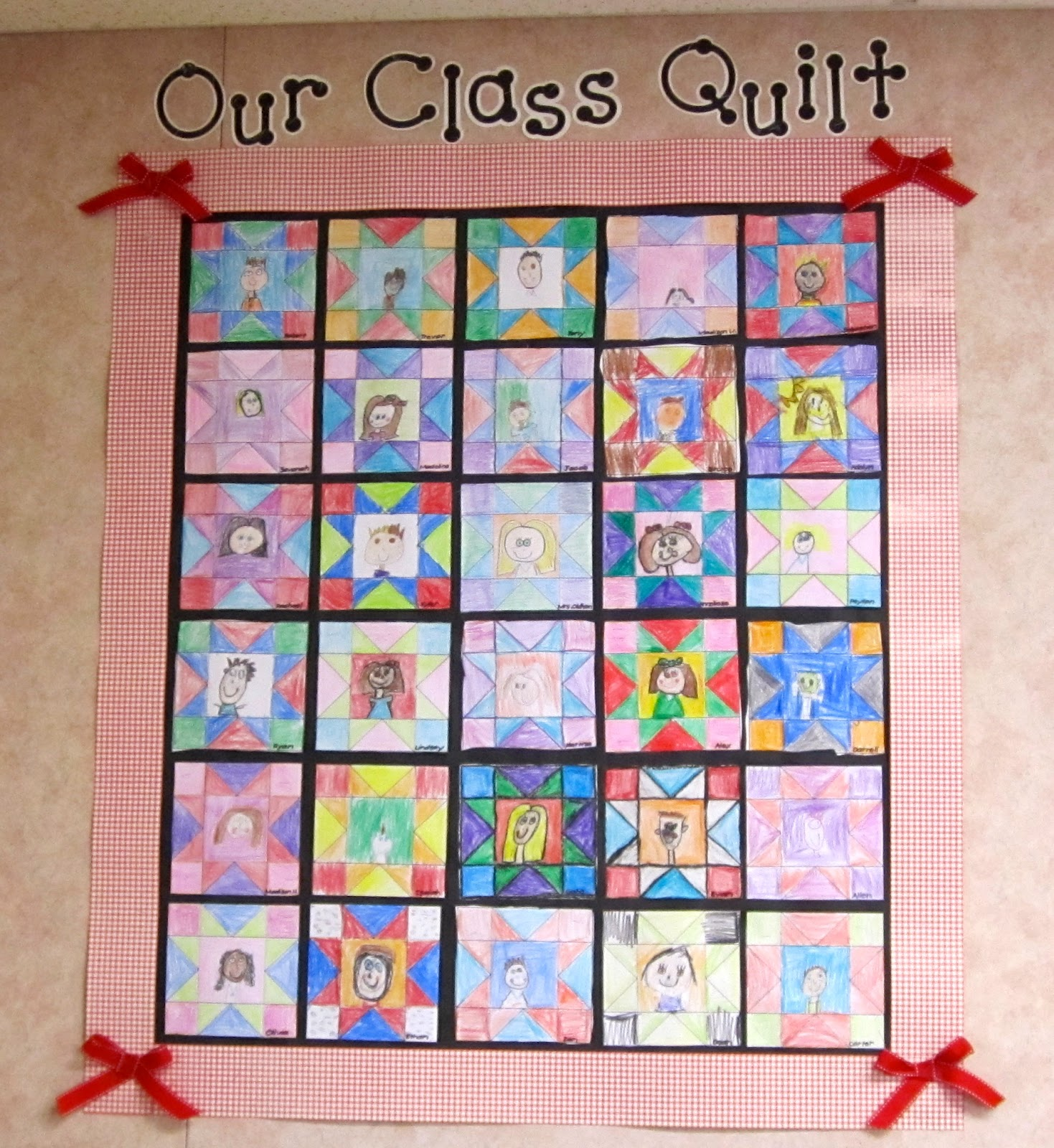Classroom Paper Quilt Ideas ~ Open house picture palooza a teeny tiny teacher
