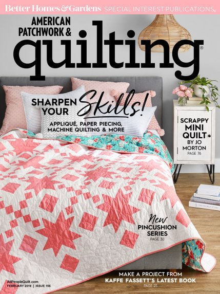 NEW! 2019 Jan-Feb American Patchwork & Quilting (click!)
