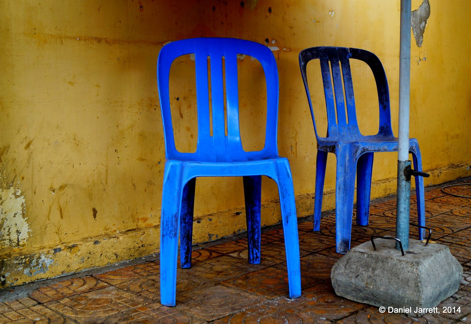Blue Chairs, Phnom Penh, Cambodia