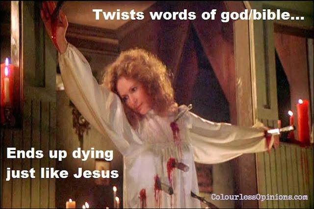 Carrie's mum margaret white crucificion