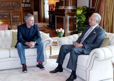 Najib bersama Jose Mourinho