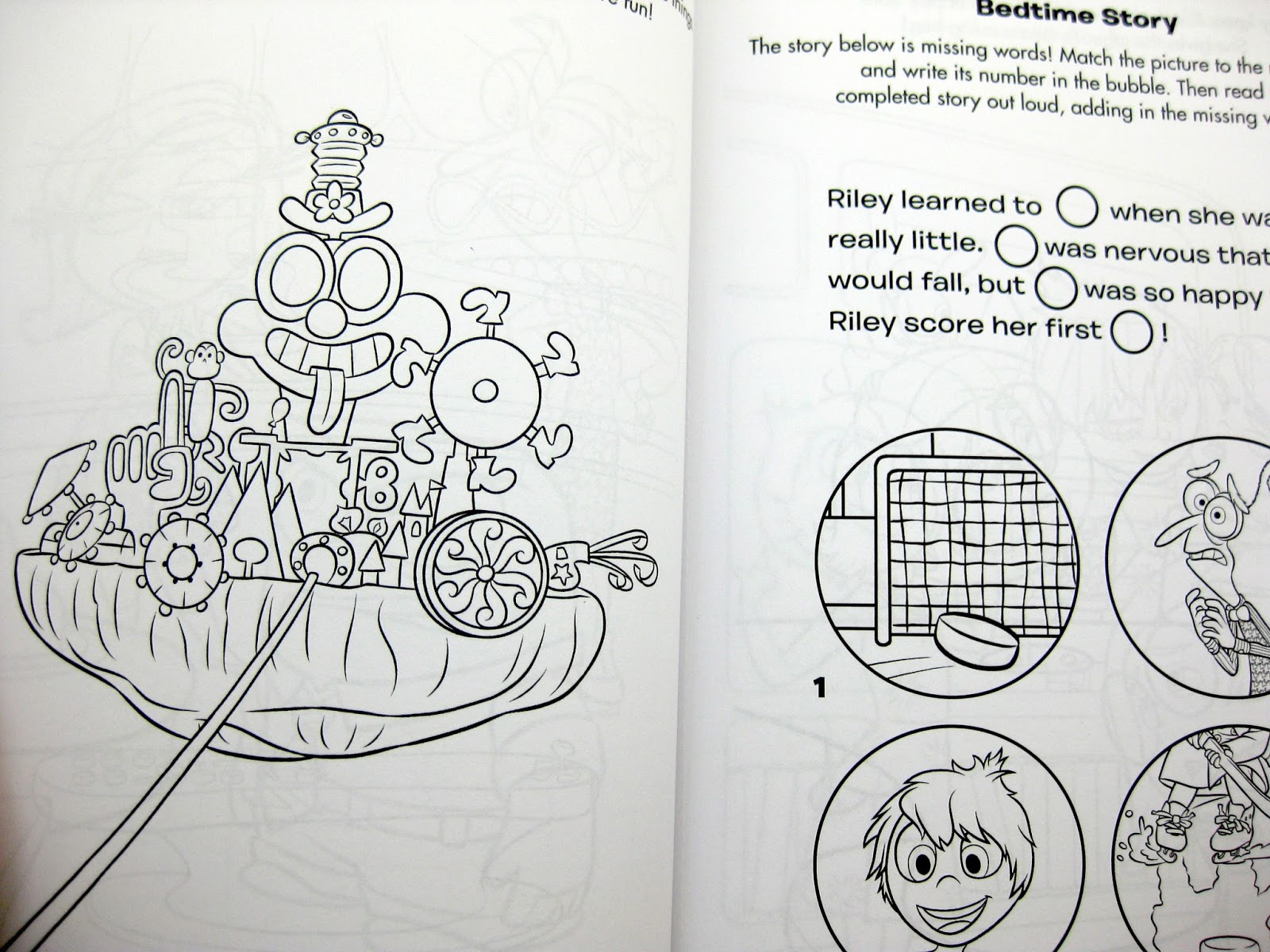 Inside out coloring pages riley - Inside Out Coloring Book