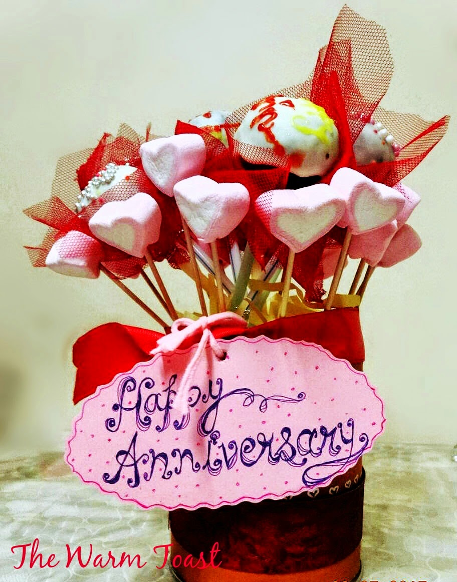 Eggless Cake Pops And Marshmallow Bouquet The Warm Toast