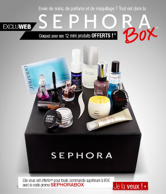 Box Sephora offerte dès 80€ d'achat