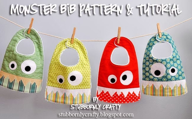 Monster Bib Free Sewing Pattern
