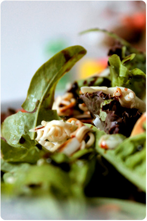 Arschgeiler Salat mit gerösteten Mie Nudeln