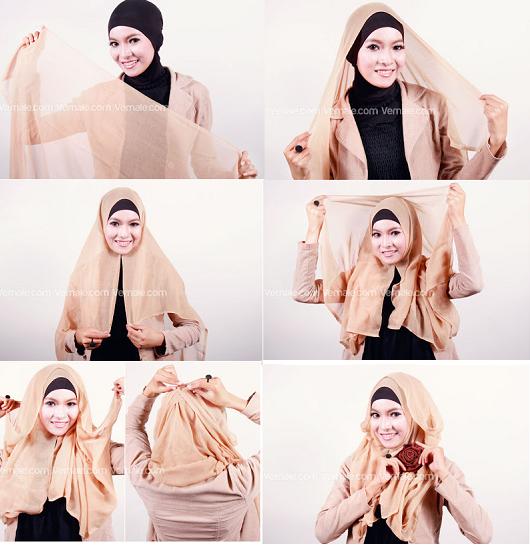 Tutorial Hijab Paris Sederhana Cantik Karena Hijab