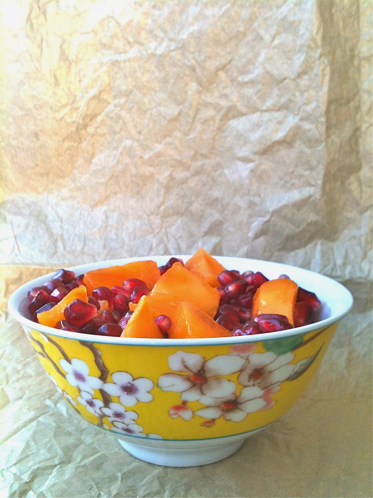Passionately Raw! - Persimmon and Pomegranate Salad