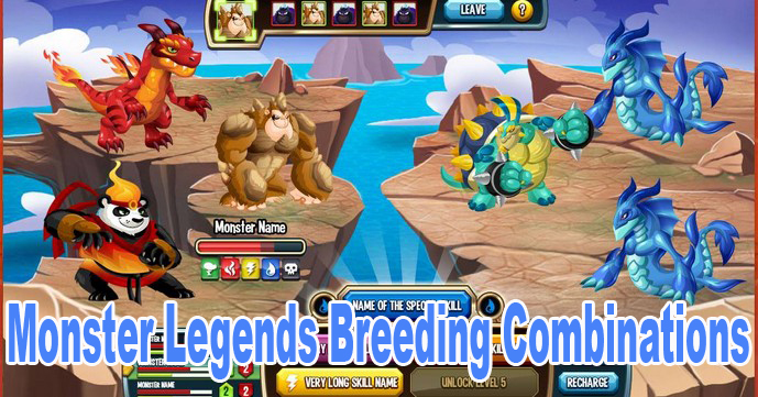 Monster Legends Breeding Combinations