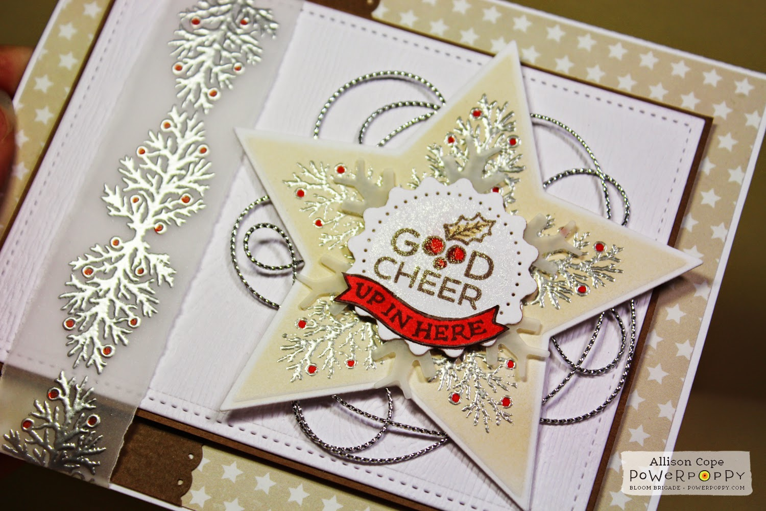 Good Cheer by Allison Cope featuring Power Poppy stamps
