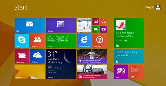 """Windows 8.1 """"nhận lại"""" bản vá """"August Update"""""""