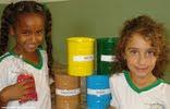 Aula de 'reciclar' em Corumbaíba