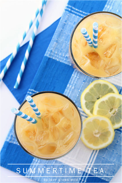 Summertime Tea - a sweet, refreshing drink perfect for Summer!