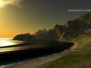 praia e paisagem