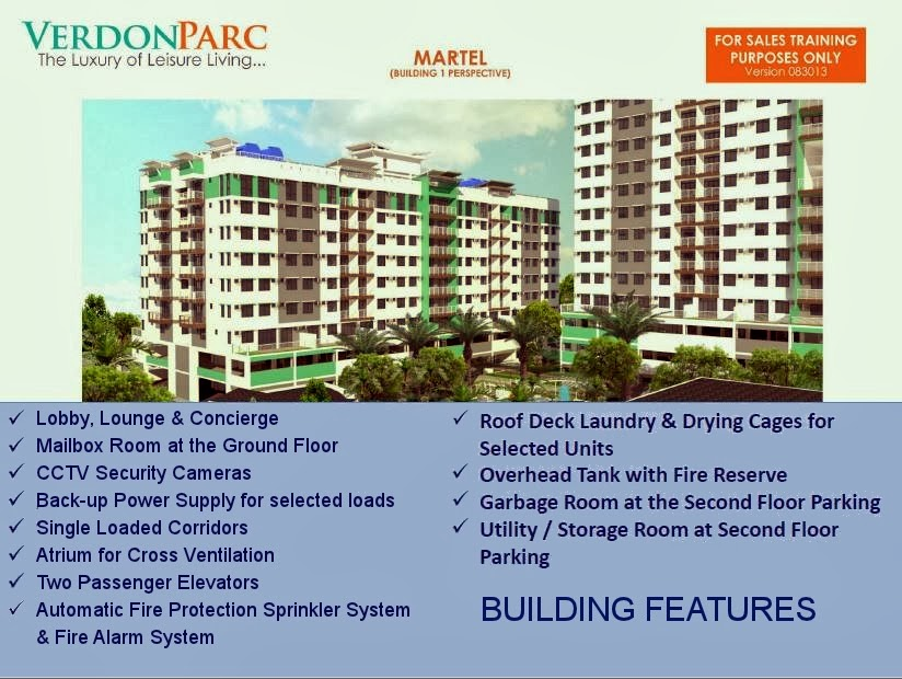 Verdon Parc Davao Building Features