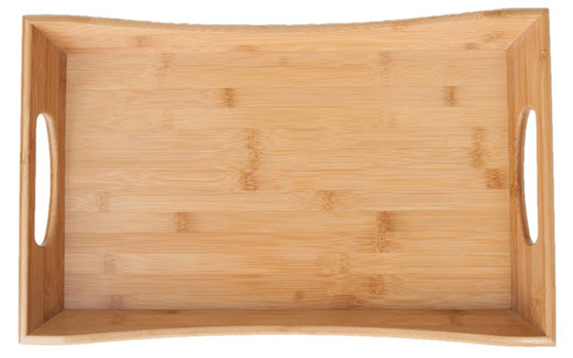 Bamboo Serving Tray w Handles  #LakeHouse