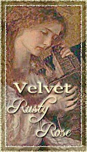 Blog Button: Velvet Rusty Rose