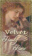 Blog Button: Velvet Rusty Rose