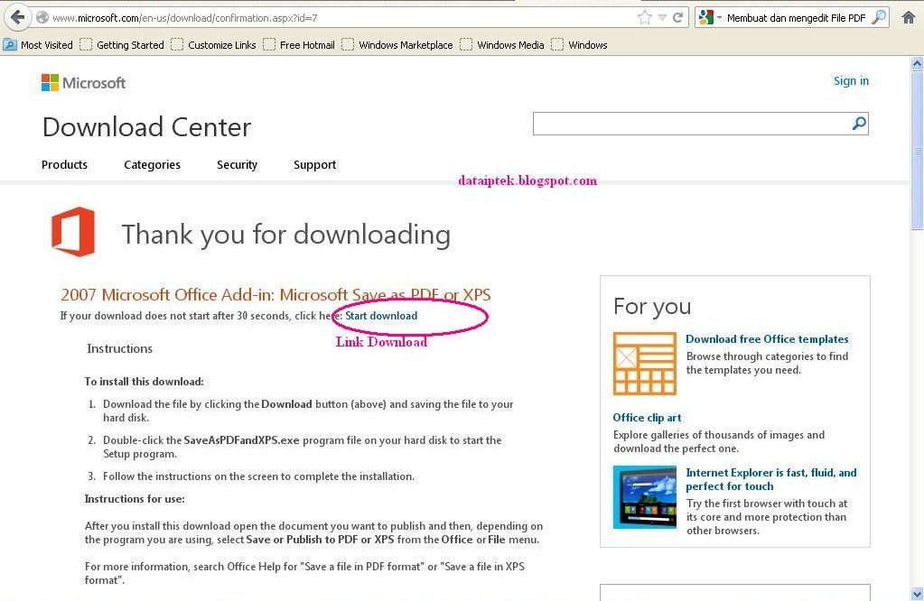 ms office 2007 save as pdf plug in