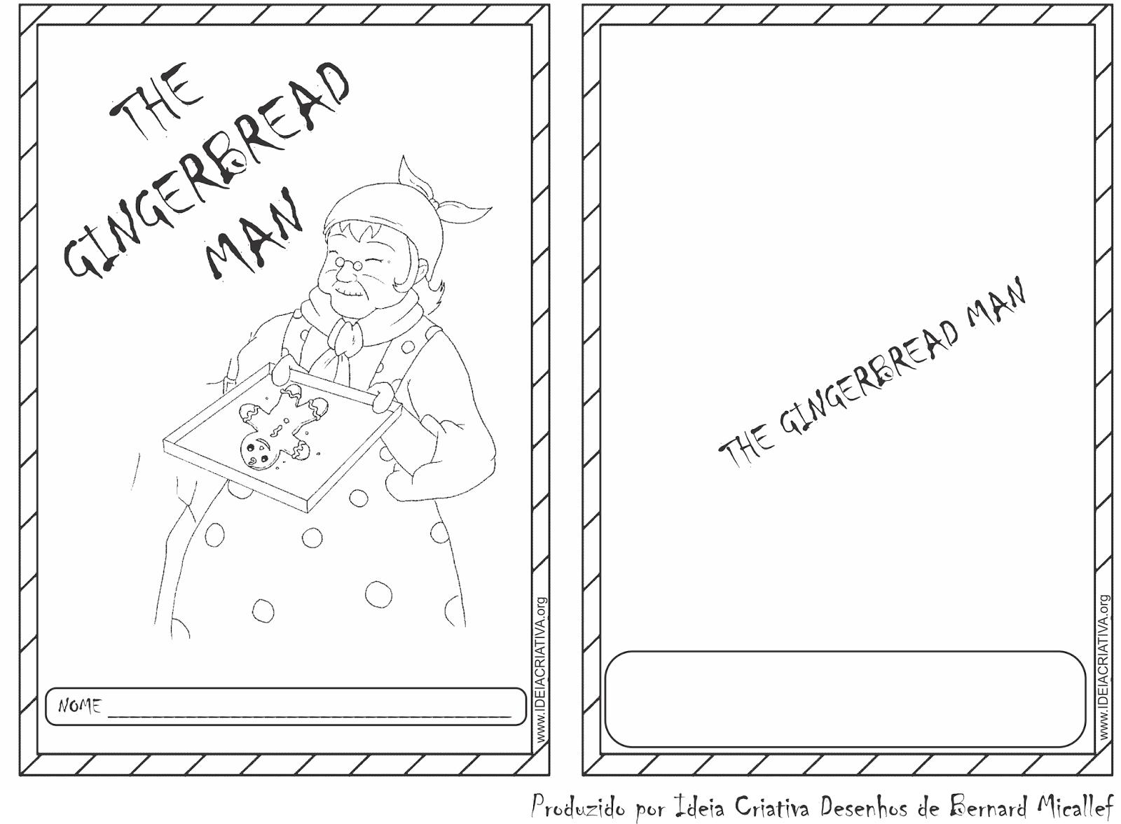 História The Ginger Bread Man para Colorir e Produzir Texto