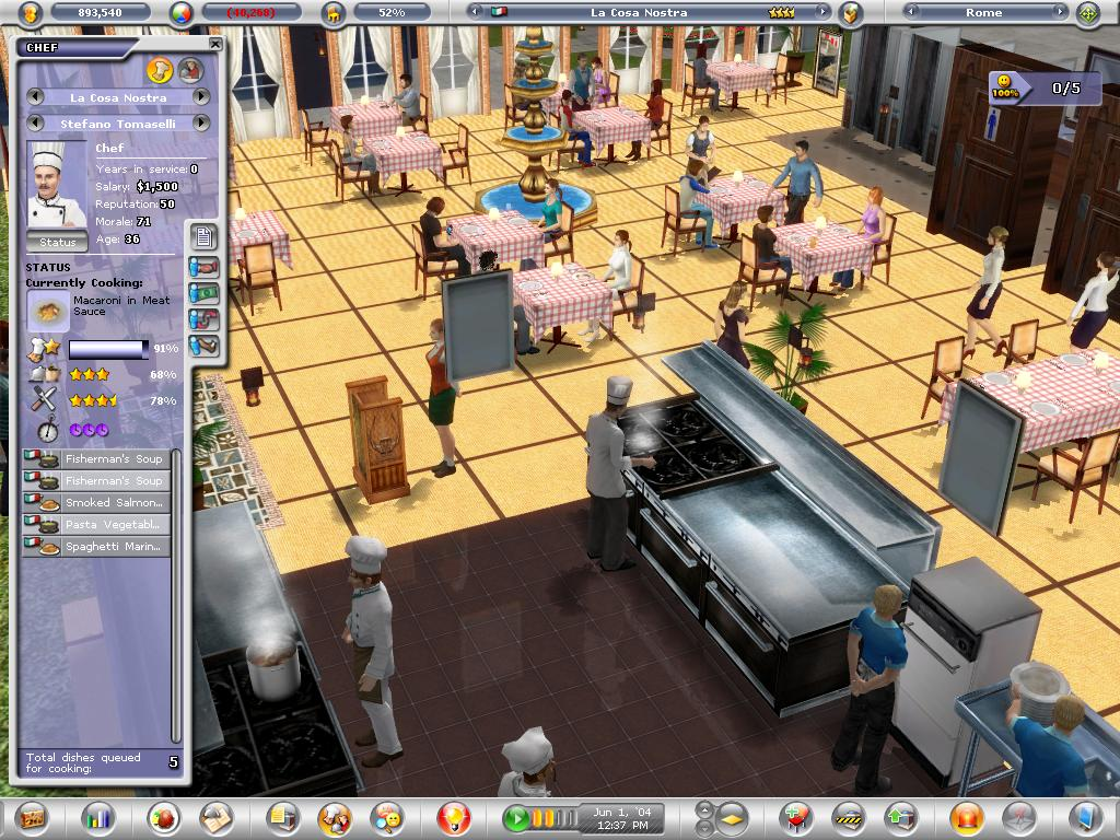 What Is The Best Design For Biz Cafe Simulation