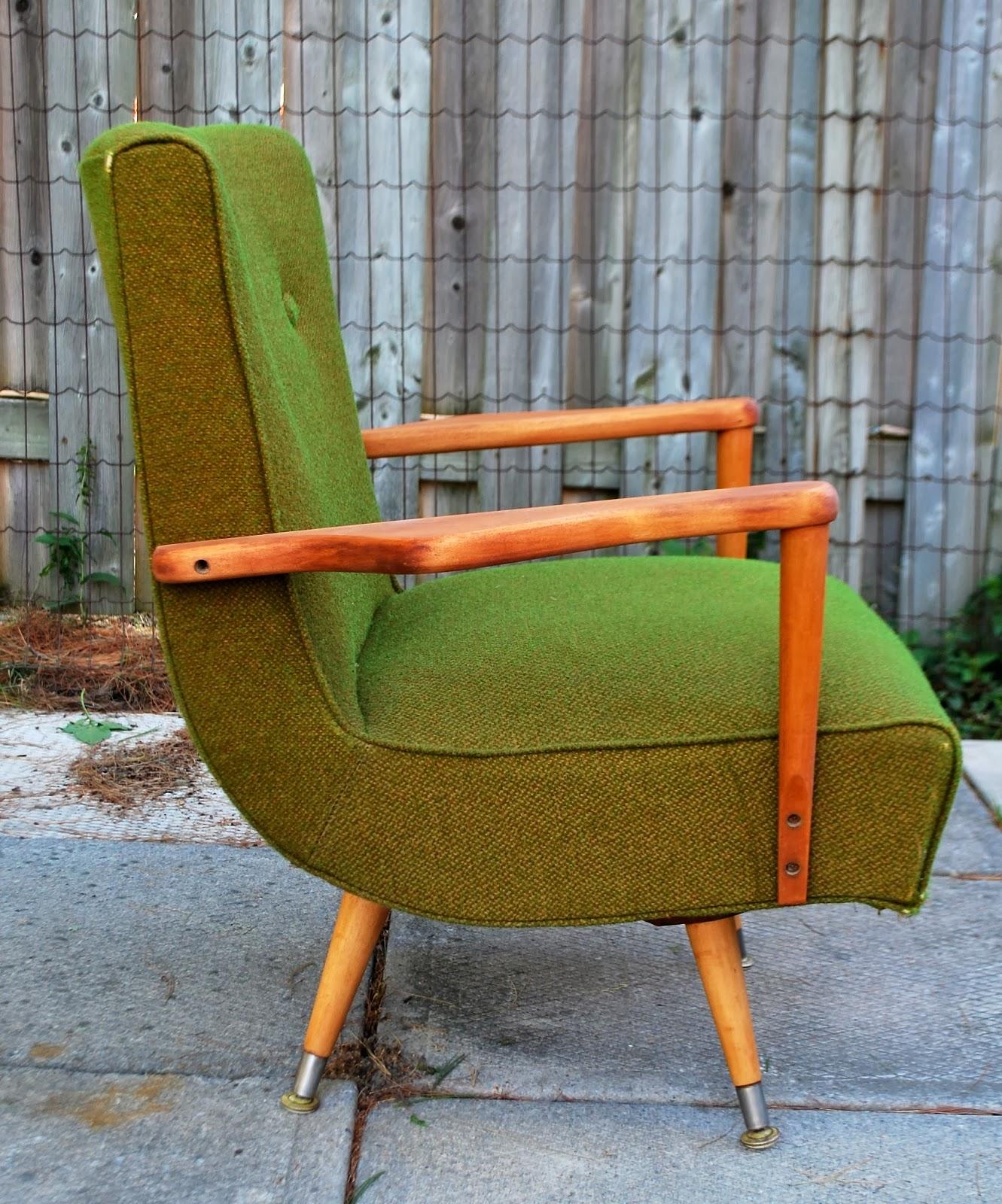 Retro Kroehler Swivel Rocker Chair